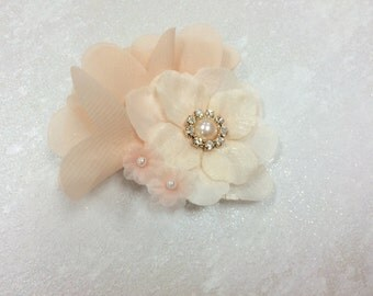 Chiffon Hair Clip, Organza Flower Hair Clip, Baby Girl Hair Clip, Photo Prop, Girl Accessories, Girl Hair Clip, Flower Girl Hair Clip