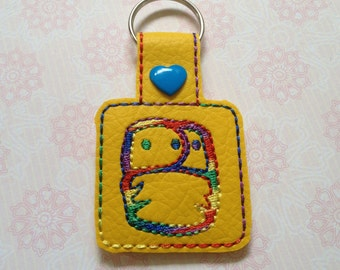 Cloth nappy key ring