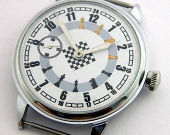 USSR Russian watch Molnija Molnia CHESS #340S
