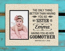 Gift for Godmother, Gift for Godfather, Godparents gift, Personalized Godparents gift, Godmother gift for sister, godparents photo gift