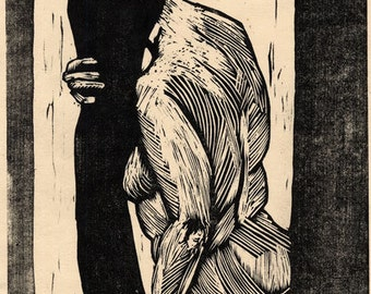 Hand-Pulled Woodcut Morning #6