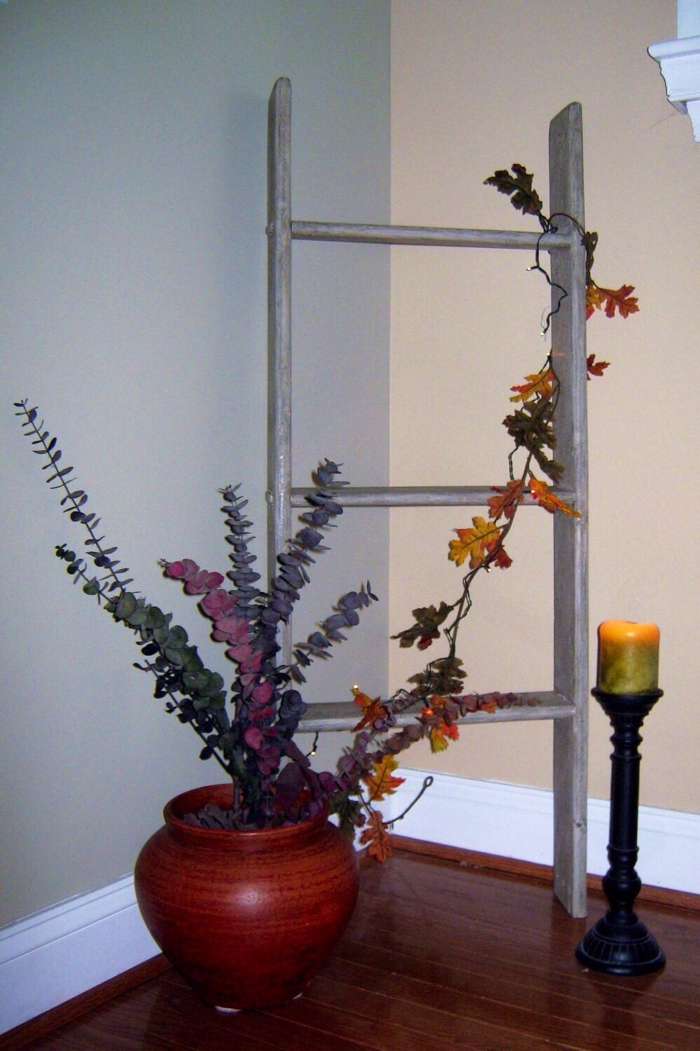 Rustic Ladder 4 ft Ladder Decorative by PineTerraceTreasures
