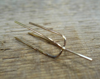 Claw Stud/Post Blanks Pink Gold Filled 4 Prong Plain 20 gauge - Post Earring Blanks, Raw Stone Ear Blanks, Stud Earring Blanks, Post Earring