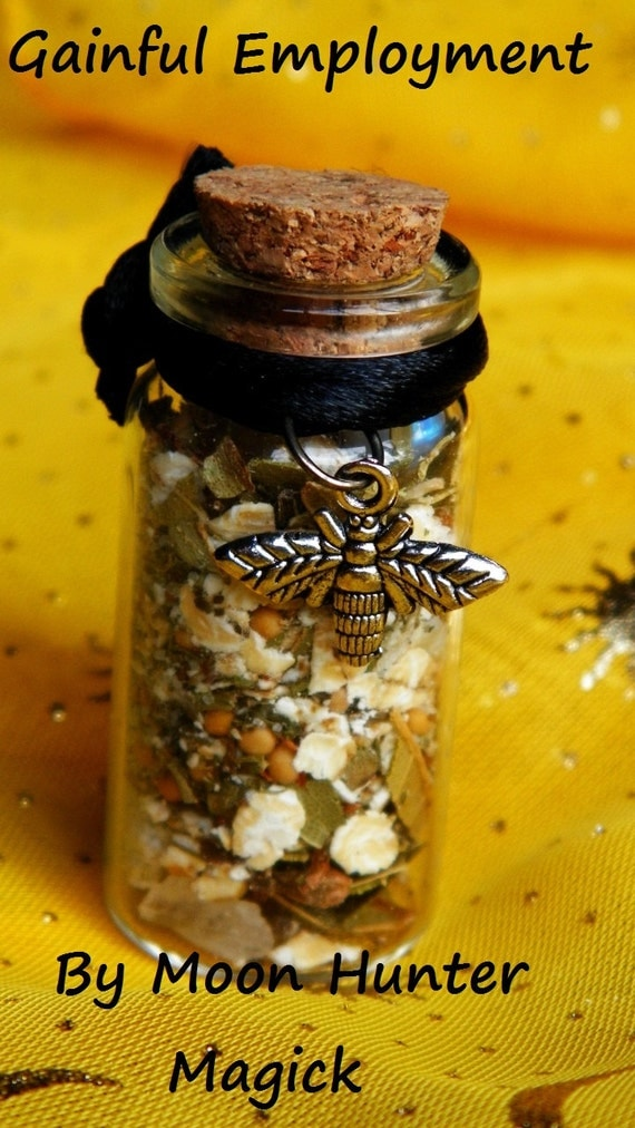Gainful Employment Witch Bottle Herbal Blend Ritual Supply Incense