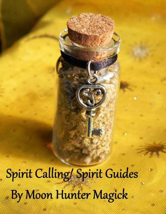 Spirit Calling Spirit Guides Ouija Witch Bottle Hand Made Herbal Blend Ritual Supply Incense