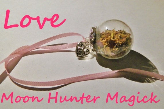 Love Charm Curio Amulet Mini Witch Ball Witch Bottle Pagan Wicca Reiki