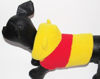 Pooh bear dog gostume Winnie the pooh Costumes for dogs costumes for cats costumes for pets costume dog clothes xxxs xs x small medium large