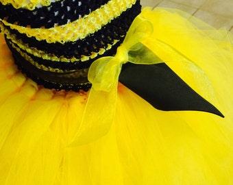 Toddler BEE costume, Honey Bee, Bumble Bee tutu costume, yellow tutu dress, yellow tutu, Toddler Halloween costume, Toddler bee