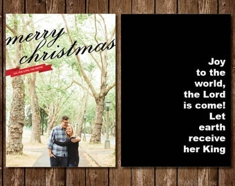 Timeless Photo Christmas Card Black and White