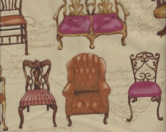 ON SALE Settees and Chairs  (Col A) from Qh Textiles- Fat Quarter