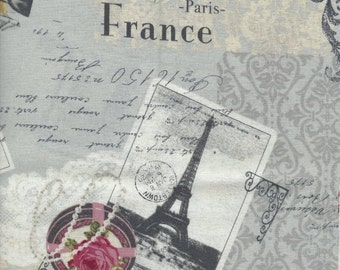 ON SALE Paris in Gray from the Live Life Collection for Yuwa of Japan