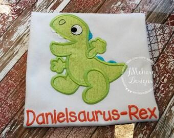 Dinosaur Custom Tee Shirt - Customizable -  Infant to Adult 60