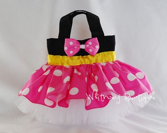 Pink Minnie Mouse (Yellow Band)Tote Bag