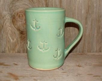 Green Celadon Anchor Mug