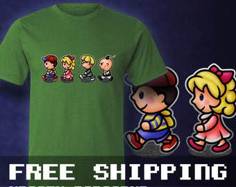Earthbound Kids T-Shirt Mens & Ladies * Free Shipping * Great Gamer Gift