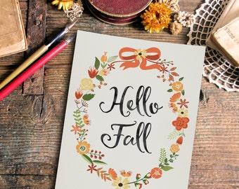 Fall Print - Fall Decor - Fall Printable - Wall Art Print - Wall Art Quote - Printable Art - Quote Print - Digital Quote - Family Print
