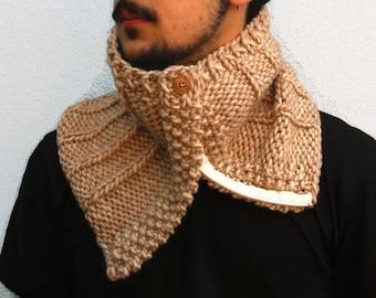 Cowl Neckwarmer Cowl Scarf Knit Cowl Chunky Scarf Men's Neckwarmer. Chunky knit cowl, Chunky Cowl Scarf, Scarf Neckwarmer with zip