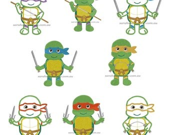 Ninja Turtle Machine Embroidery Design Set