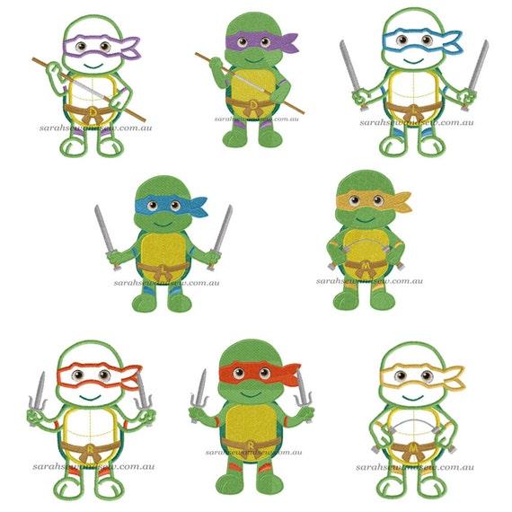 mutant turtles machine embroidery designs
