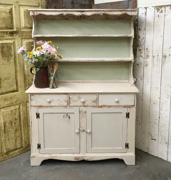 Country Kitchen Hutches: Dining Room Hutch White Kitchen Hutch Vintage Cupboard
