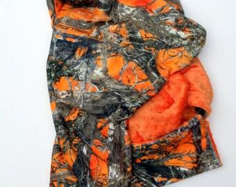 Camo Minky Baby Blanket, Minky Boy Blanket, Minky Girl Blanket, Hunting Blanket, Carseat Blanket, Stroller Blanket 29 x 36 in