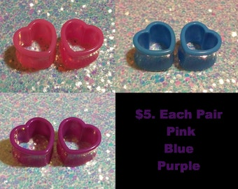 SALE Heart Tunnels sold in pairs