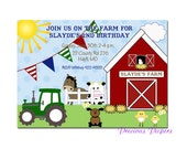 Farm birthday invitations Farm Birthday Party Invitations Farm Printable Download within 24 hours