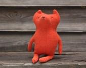 Woodland foxy stuff toy, fox stuffed  animal, recycled