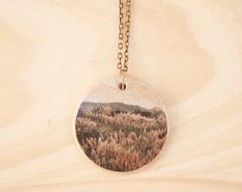 Modern Stoneware Necklace. Ceramic Pendant. Handmade Jewelry. Ceramic Jewelry. Pendant Necklace. Stoneware Pendant. Bohemian Chic Jewelry.