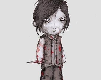 Double D Zombie Hunter Fine Art Print