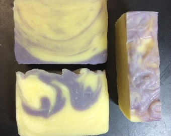 Lavender Soap - Lavender - Handmade Soap - Artisan Soap - Purple and Cream - Soap - Purple - Off White - Floral Soap - Swirled Soap