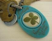 Lucky 4-leaf Clover Keyring Souvenir - St. Petersburg, FL