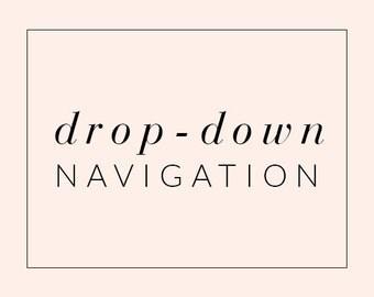 Drop-Down Navigation Bar for Blogger Platform - Drop Down Navigation Menu - Custom Blog Theme Upgrade