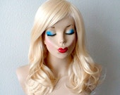 Blonde wig. Shoulder length wavy blonde wig. Quality Heat resistant  synthetic wig for Cosplay or daytime use.