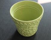 Vintage Large Lime Green Chartreuse McCoy Pottery Planter Pot