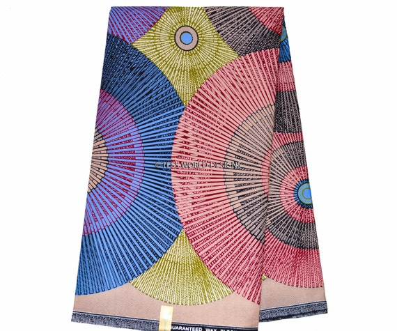 African Print Fabric, Abstract/ African Fabric by the yard/ Dutch Wax/ Ankara Clothing/ Ankara Skirt/ Ankara dress/ WP598B