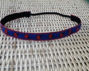 Blue Lady Bug  Headband - Girls No Slip Headband