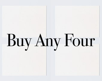 Buy Any Four (Cards or Posters)