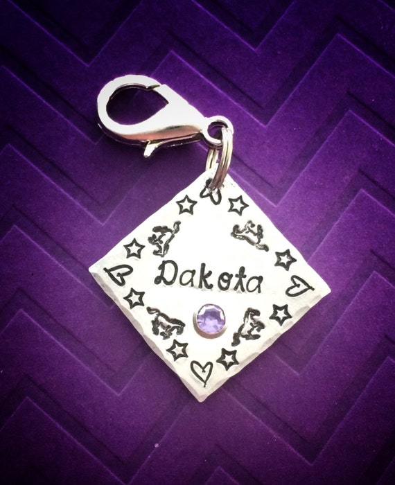 Horse ID tag personalized horse name tag bridle halter