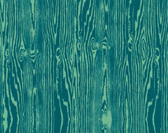Wood Grain in Teal by Joel Dewberry - 1/2 Yard - Free Spirit - Blue Fabric - Faux Bois - True Colors - Teal Fabric - Wood Grain Fabric