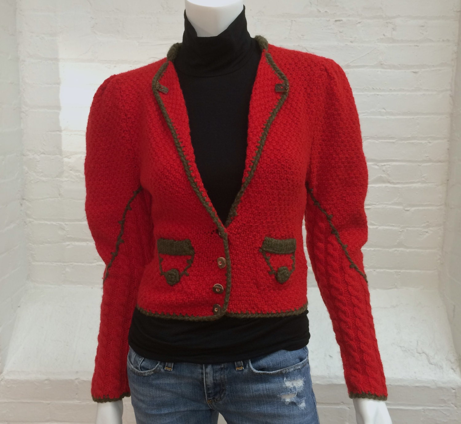 Find great deals on eBay for vintage red wool cardigan. Shop with confidence.