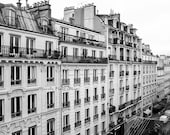 Paris Montmartre Rooftop View Photography - Black and White Print - Wanderlust Travel  - Christmas Gift for Her and Him- Paris Wall Decor