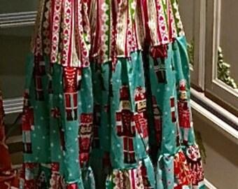 Gorgeous Christmas maxi dress, little girls Christmas Dress/ Maxi Dress