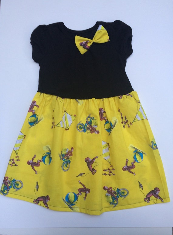 Curious George Dress For Baby Toddler Little Girls
