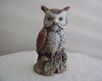 Vintage Owl Figurine Marked C3213