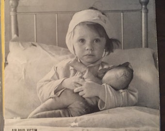 LIFE magazine September 23,  1940 10c air raid victim sweet child on cover