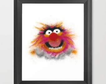 Animal INSTANT DOWNLOAD,The Muppets, Digital Art, television, movies, art, character art, cartoon, nursery room, geeky gift, downloadable