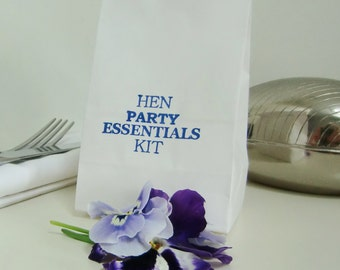FUN FUN FUN!-Hen Party Favor Bags-Hen Party Favours- Kraft Favor Bags-Various Qtys-Hen Party Essentials Kit-Hen Party-Favor Bags
