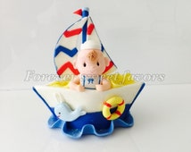 SAILOR CAKE TOPPER. Nautical cake topper. First birthday cake topper.Nautical cake topper. baby shower cake topper.