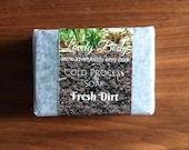 Fresh Dirt Hunting Soap Bar -  Fresh Clean Moss, Damp Earth - Natural Cold Process Soap - Vegan